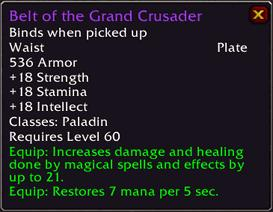 Belt of the Grand-Crusader