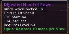 Digested Hand of Power
