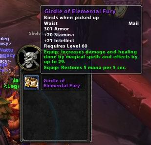 Girdle of Elemental Fury