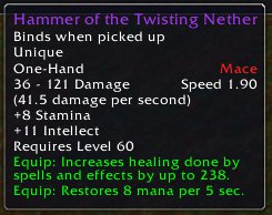 Hammer of the Twisting Nether