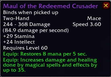 Maul of the Redmeeded Crusader