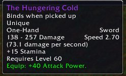 The Hungering Cold stats